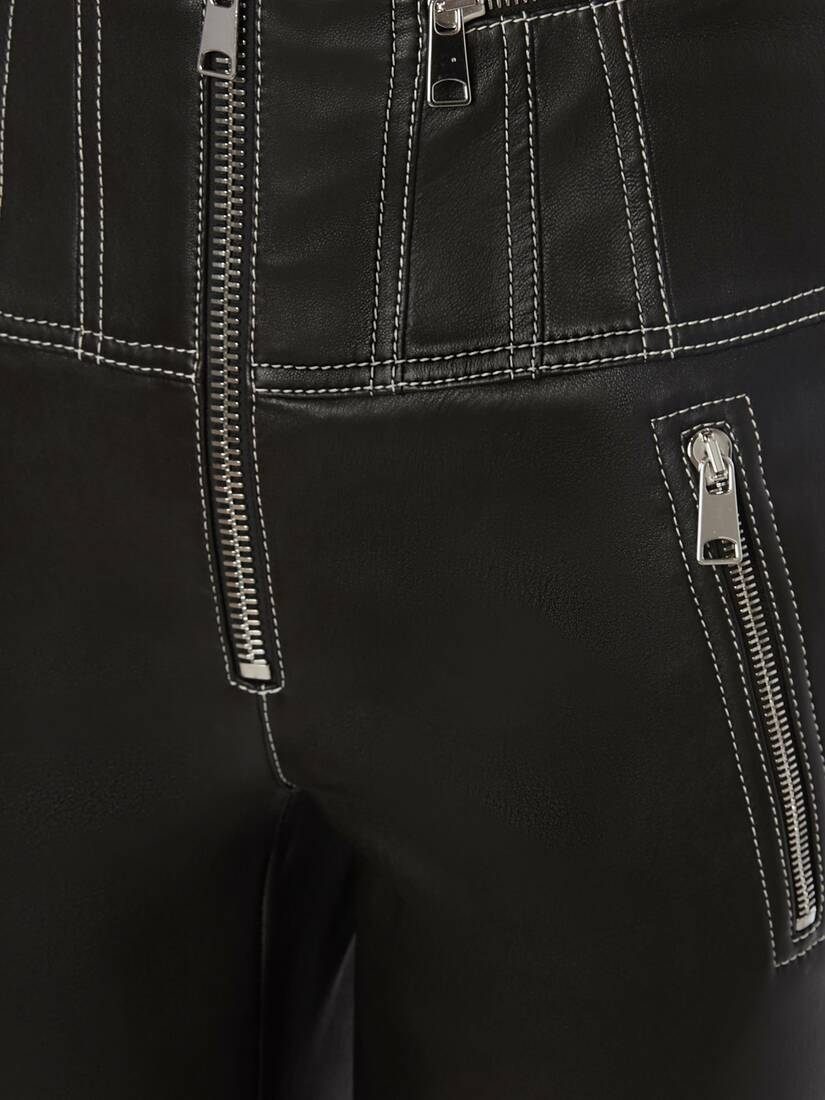 Display a large version of the product image 5 - Leather Biker Trouser