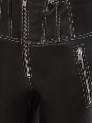 Pantaloni Biker in Pelle