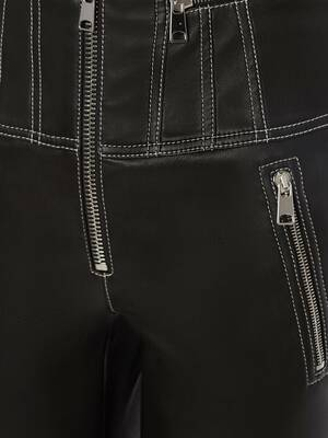 Leather Biker Trouser