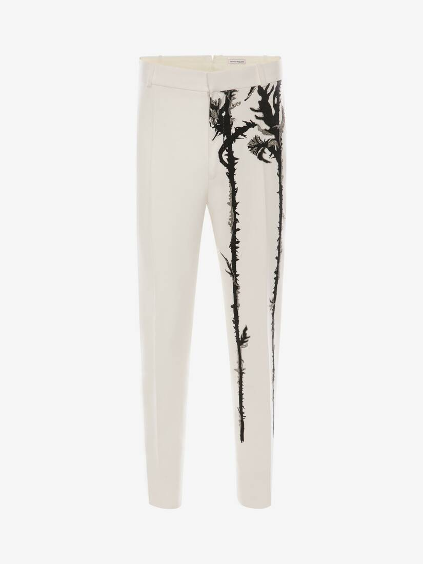 Display a large version of the product image 1 - Embroidered Thistle Trousers