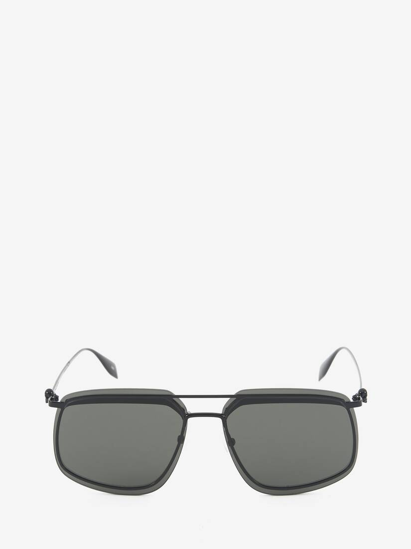 Display a large version of the product image 1 - Eckige Sonnenbrille aus Metall
