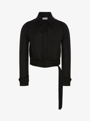 Herringbone Cropped Coat