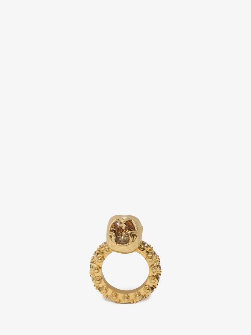 Display a large version of the product image 3 - Anello Skull con Cristalli