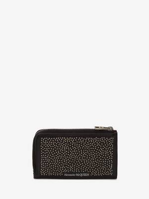 Studded Large Zip Coin Card Holder