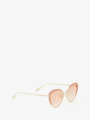 Studded Lens Cat-Eye Sunglasses