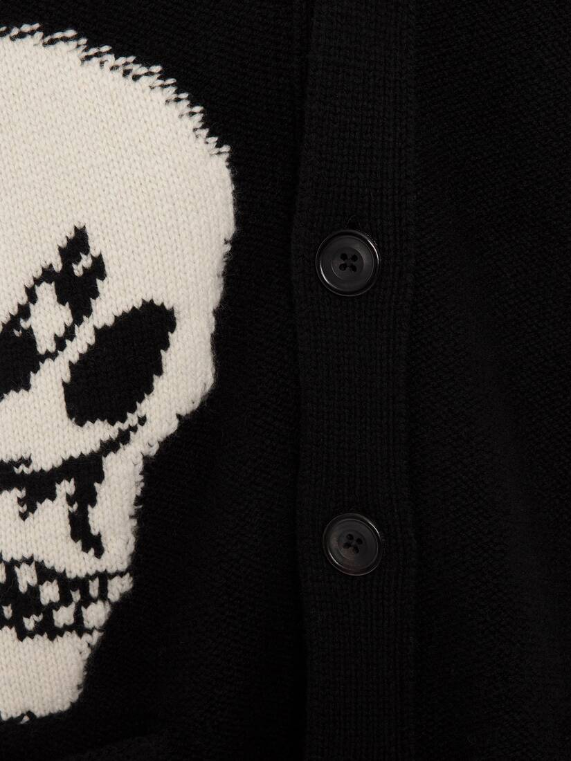 Display a large version of the product image 5 - Gothic Skull Intarsia Knit Cardigan