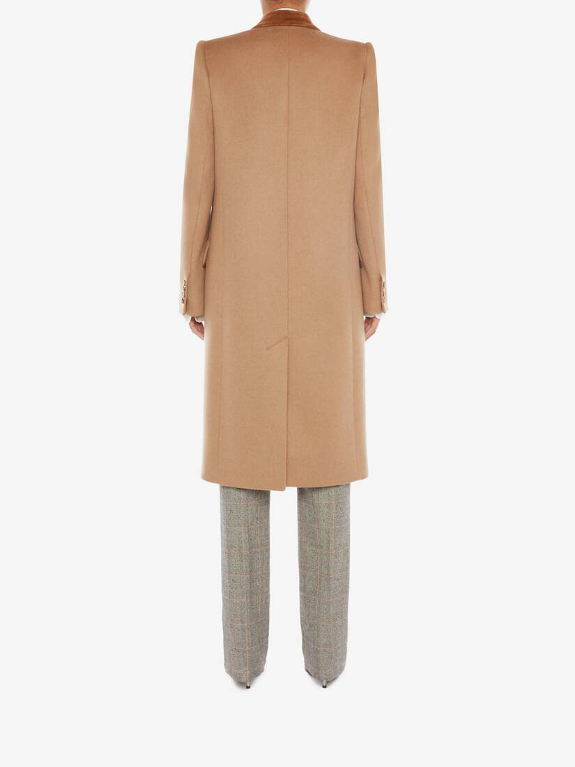 Single Breasted Camel Coat