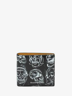 Painted Skull Billfold Wallet