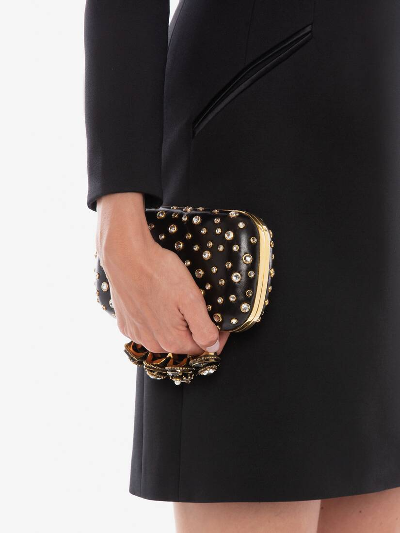 Display a large version of the product image 5 - Box Clutch Spider Jewelled Four-Ring