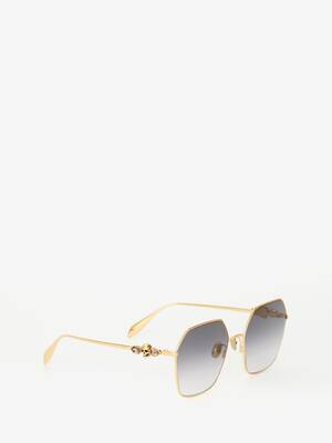Skull Droplets Metal Sunglasses