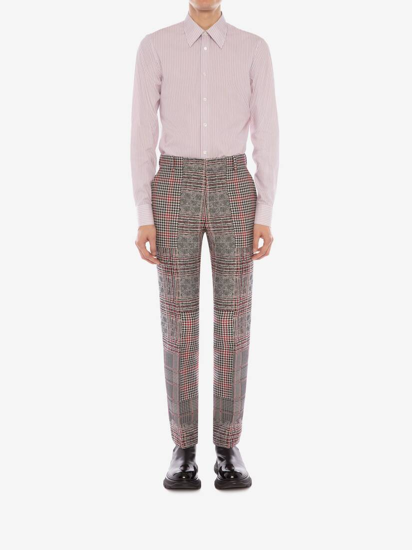 Display a large version of the product image 3 - Patchwork Prince of Wales Trousers