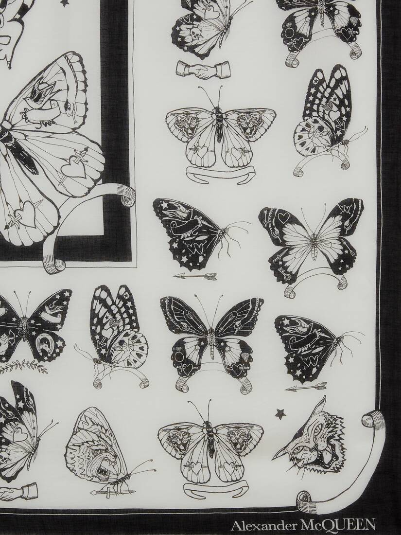 Display a large version of the product image 3 - Scialle Butterfly Inked