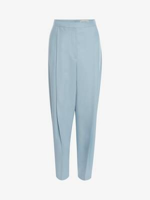 Wool Oversize Peg Trouser