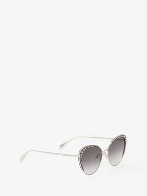 Gläser mit Studs Katzenaugen-Sonnenbrille