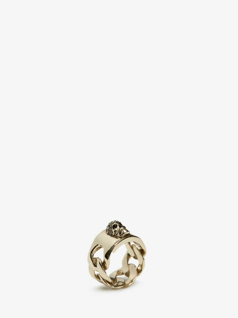 Display a large version of the product image 2 - Chain Skull Ring