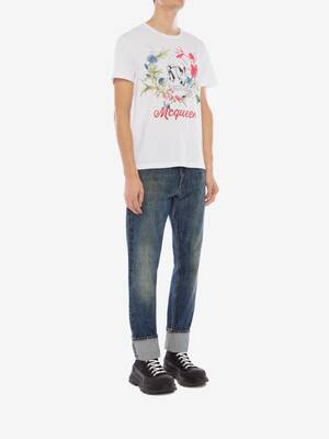 Deconstructed Floral Skull T-Shirt