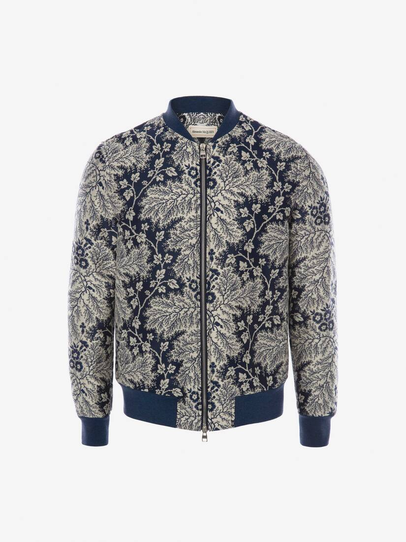 Display a large version of the product image 1 - Ivy Creeper Jacquard Bomber Jacket