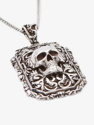 Engraved Skull Necklace