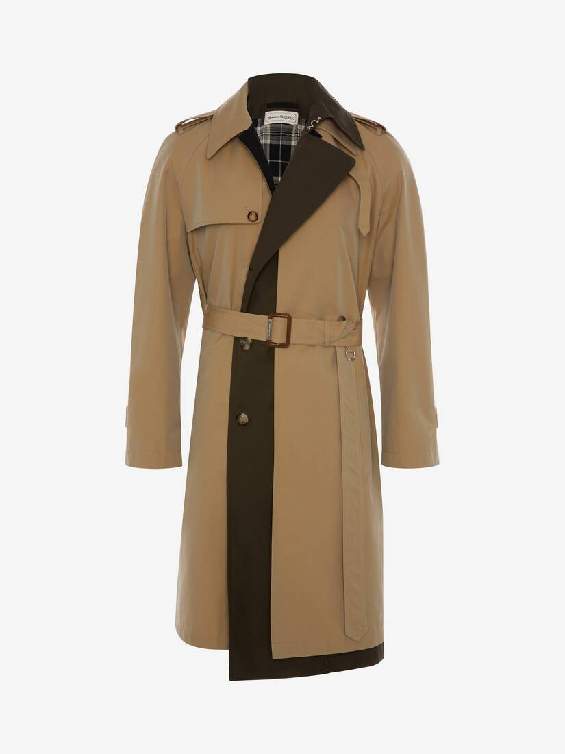 Display a large version of the product image 1 - Trompe-l'œil Layered Trench Coat