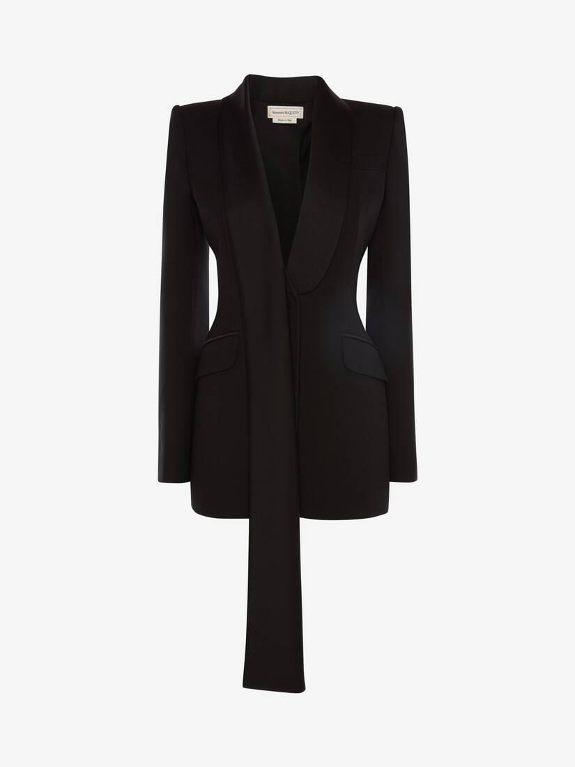 Scarf Lapel Tuxedo Jacket