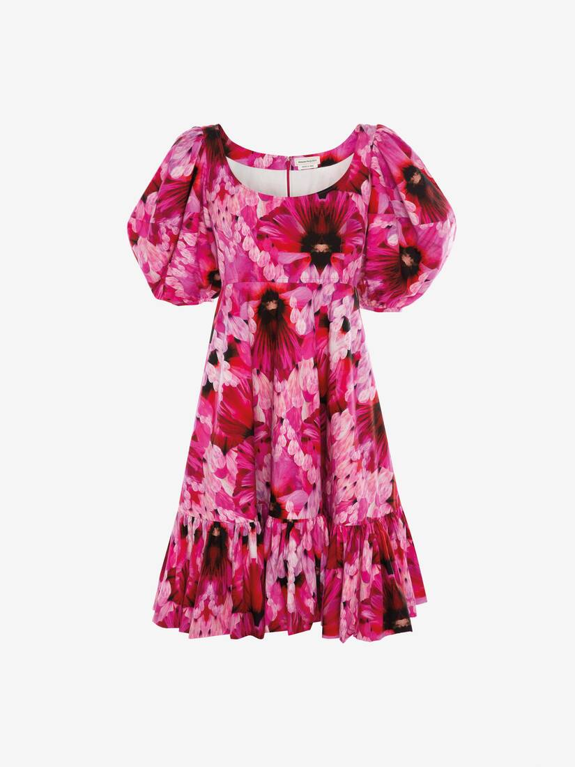 Display a large version of the product image 1 - Endangered Flower Poplin Mini Dress