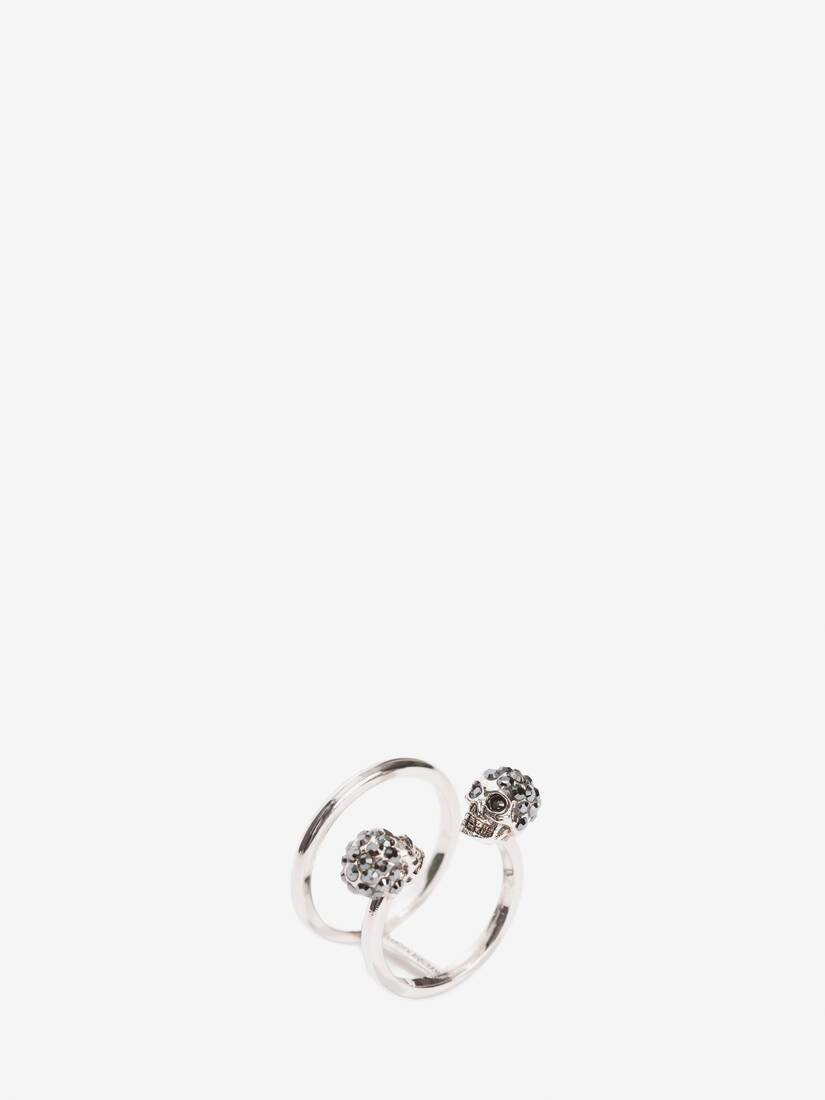 Display a large version of the product image 2 - Twin skull double ring