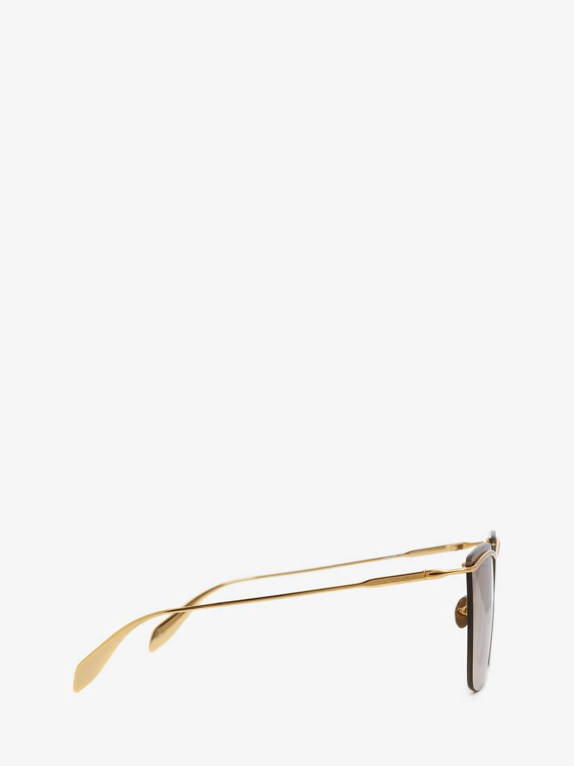 Display a large version of the product image 2 - Metal Bar Square Sunglasses
