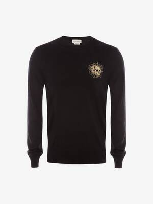 Exploded Mini Skull Crew Neck Jumper