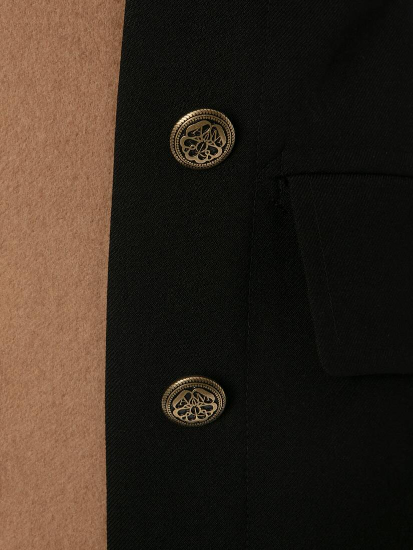 Double Faced Wool Military Coat