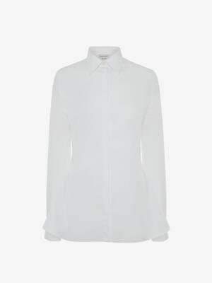 실버 메탈 아일렛 셔츠