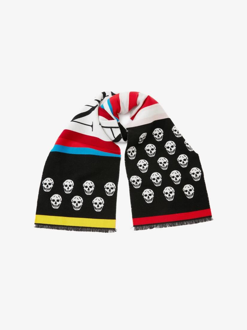 Gestreifter Skull-Schal
