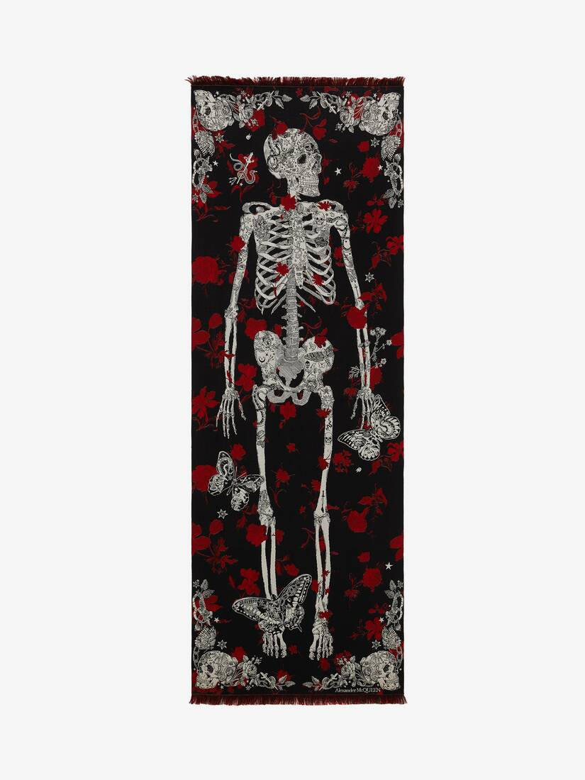 Display a large version of the product image 1 - Schal Tattoo Skeleton
