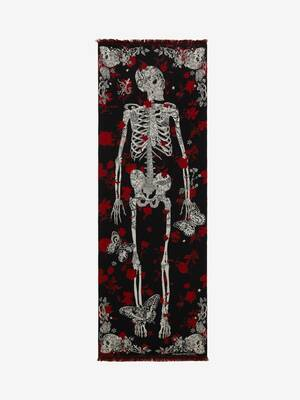 Foulard motif Tattoo Skeleton