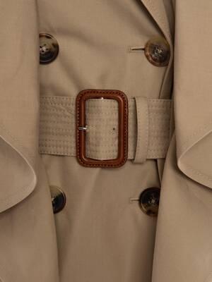 Peplum Trench Coat