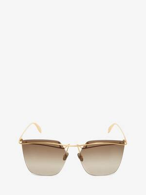 Metal Bar Square Sunglasses
