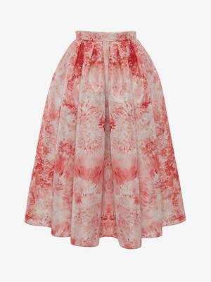 Sea Coral Pleated Midi Skirt