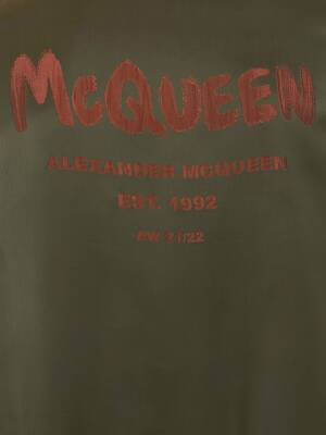 McQueen Graffiti Hybrid Crew Neck Jumper