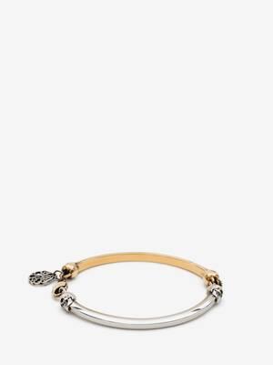 Bi-Colour Skull Bracelet