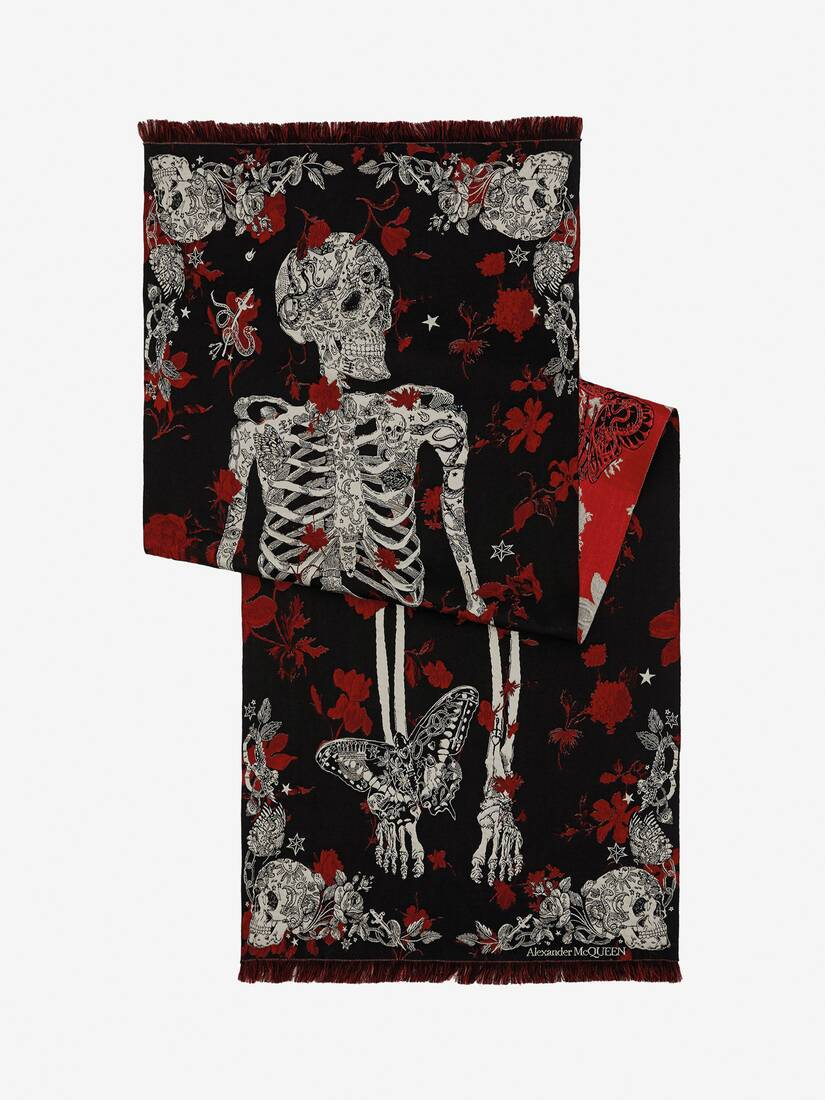 Display a large version of the product image 2 - Tattoo Skeleton Scarf