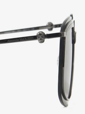 Metal Frame Square Sunglasses
