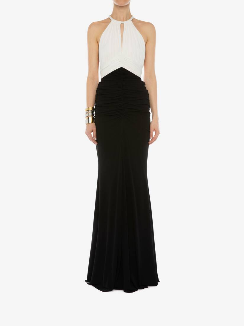 Display a large version of the product image 2 - Halter neck Evening Dress