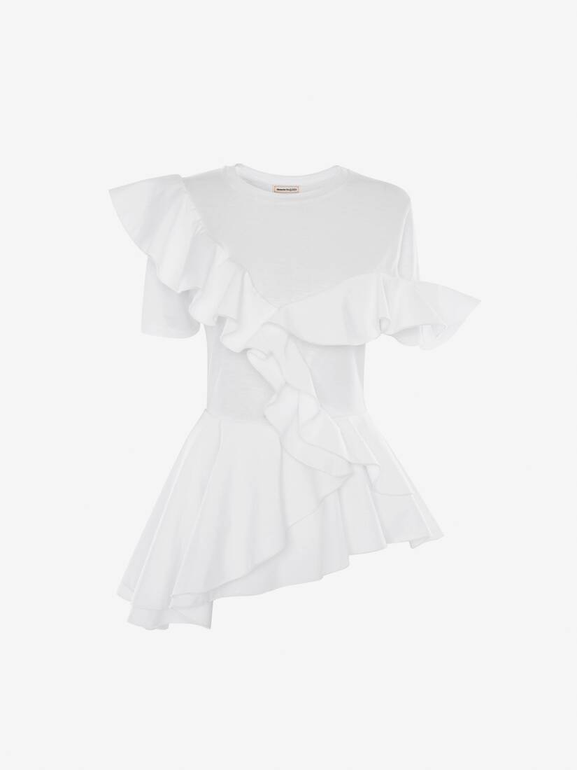 Display a large version of the product image 1 - Peplum Ruffle T-Shirt