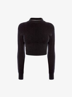 Cut-Out Guernsey Knit Jumper