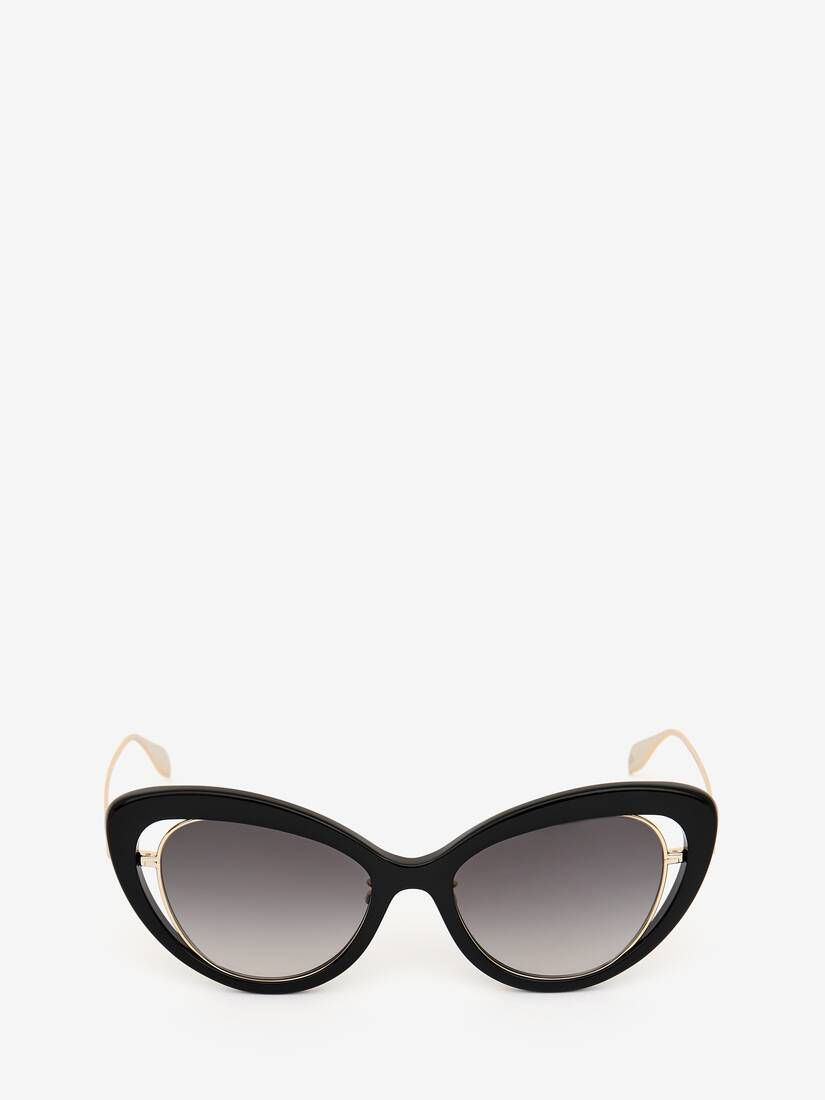 Display a large version of the product image 1 - Open Wire Cat-Eye Sunglasses