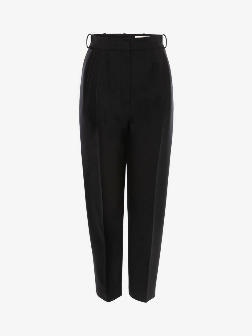 Display a large version of the product image 1 - High Waisted Cigarette Trouser