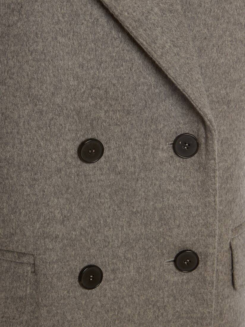Double Breasted Wool Felt Coat