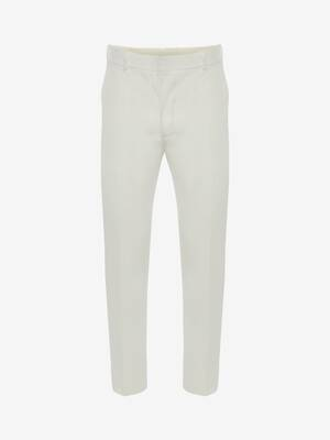 Cotton Gabardine Cigarette Trousers