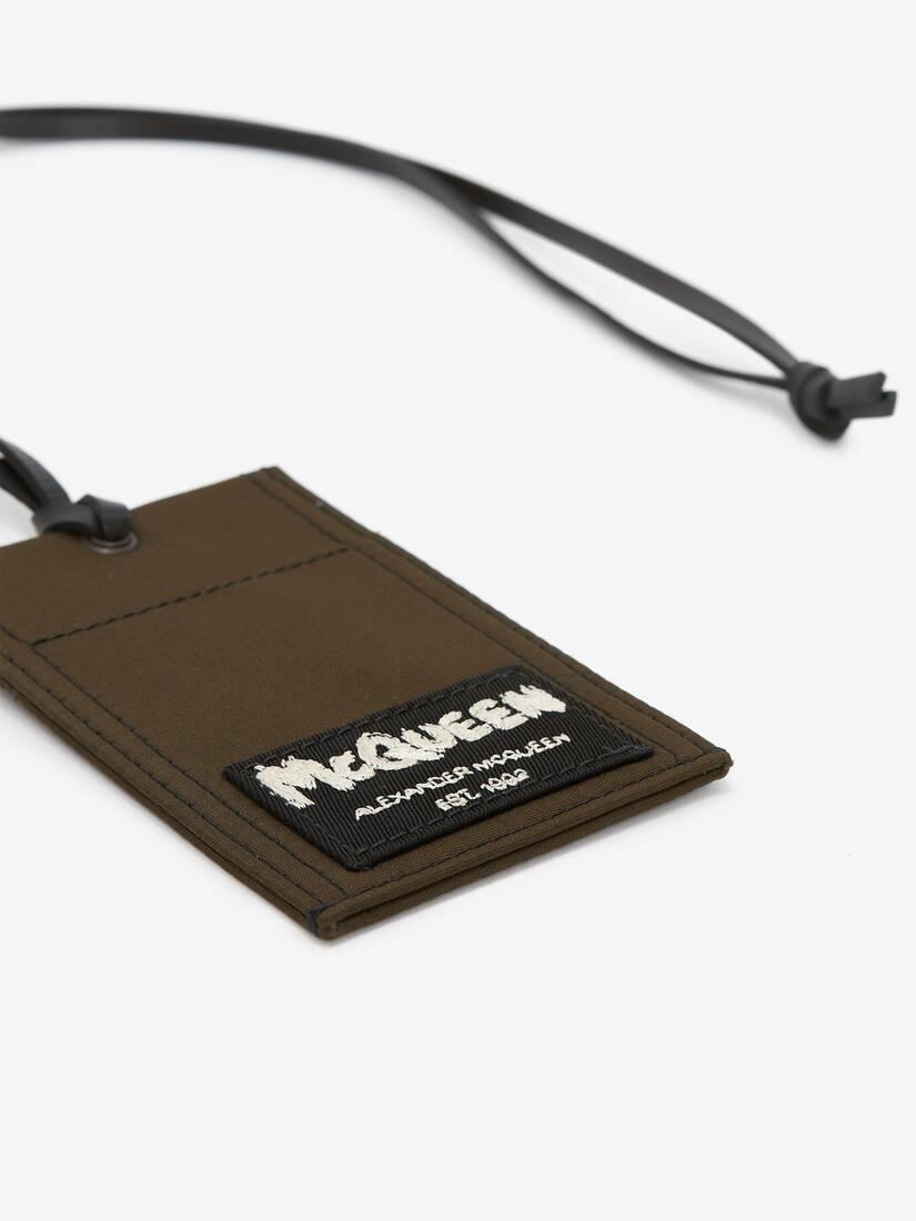 マックイーン タグ ストラップ付きカードホルダー