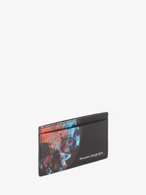Ikat Skull Card Holder