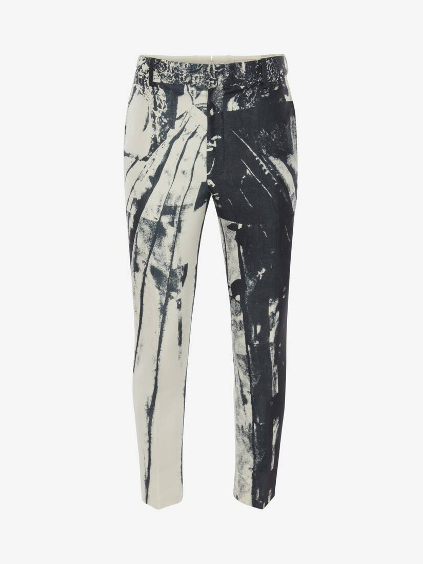 Display a large version of the product image 1 - Trompe-l'œil Printed Cigarette Trousers
